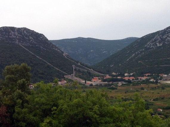 Die Festung vom Hügel Michael aus gesehen