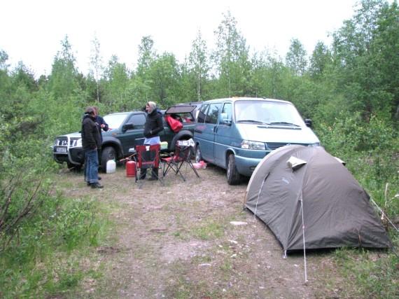 Übernachtungscamp in Mittelschweden