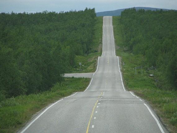 Landstraße in Finnland