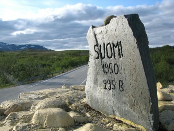 Die Grenze von Finnland nach Norwegen