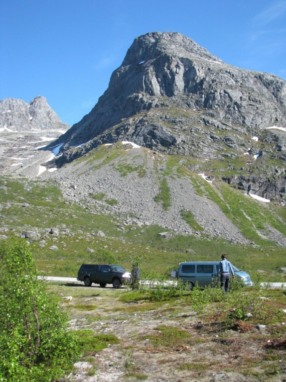 Lagerplatz bei Tromsø