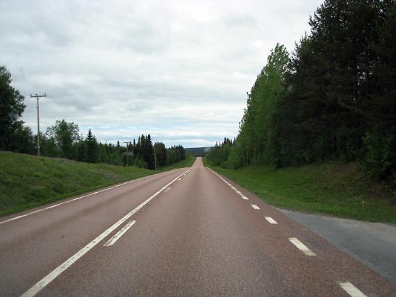 Ewig lang zieht sich die E45 durch Schweden.