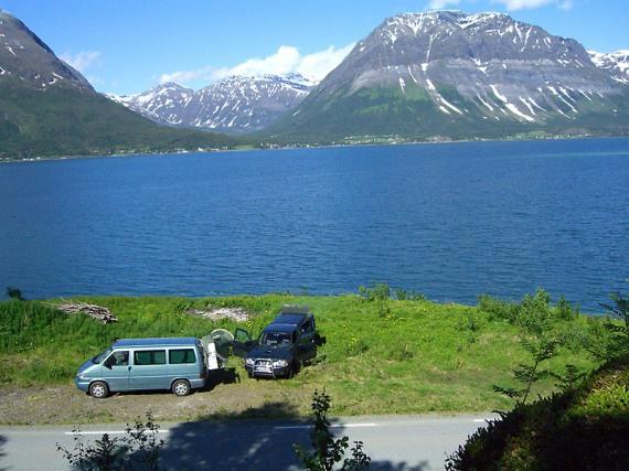 Das erste Camp in Norwegen.