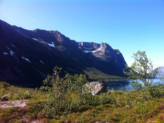 Aussicht vom Camp über den Fjord