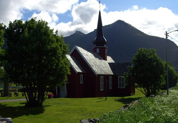 Die Kirche von Flakstad, Lofoten