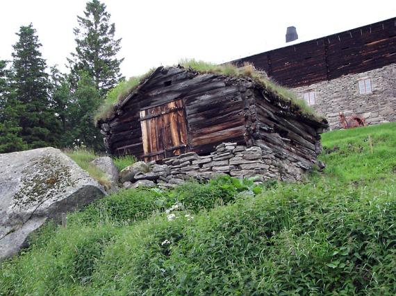 Typischer Vorratsraum im Dovrefjell-Sunndalsfjella-Nationalpark