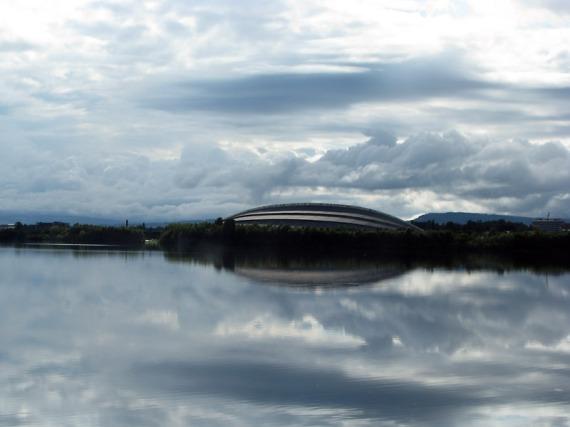 Die Hamar Olympiahall, besser bekannt als Vikingskipet ist eine der größten Eislaufhallen der Welt.