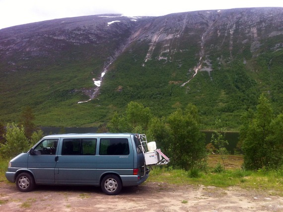 Gebirgiges Camp im Dovrefjell-Sunndalsfjella-Nationalpark.