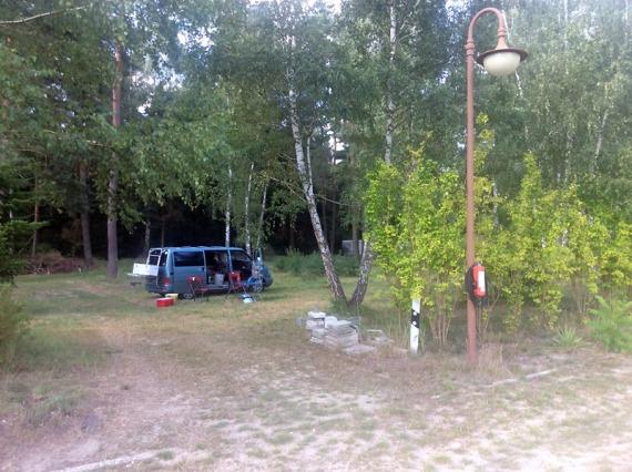 Stellplatz im Wald