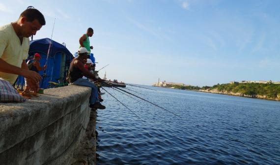 Anlger an der Av Del Purto, La Habana