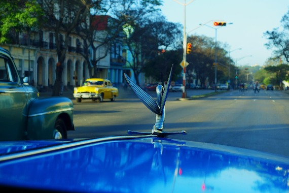 Taxifahrt zum Busbahnhof, La Habana