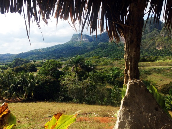 Valle de Viñales, vom Mirador aus gesehen.